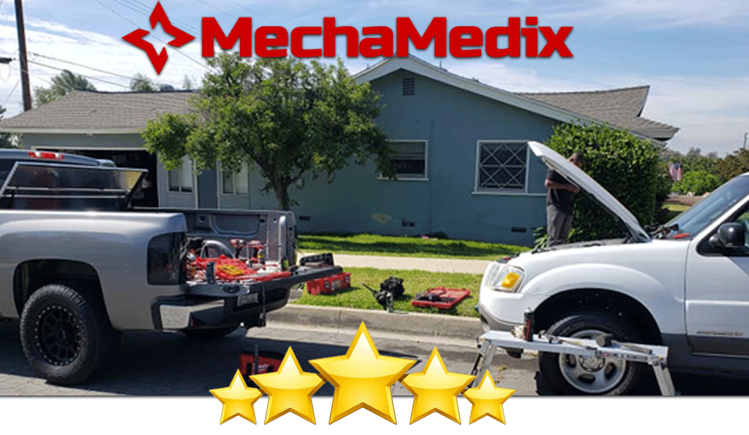 A photo of our mobilemechanic at work at a customers home in Bakersfield, CA